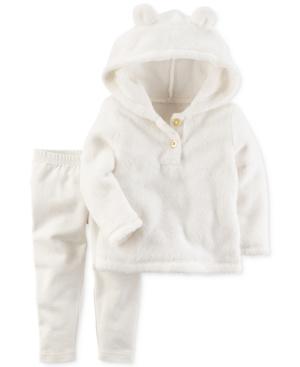 Carters 2Pc Fleece Hoodie  Leggings Set Baby Girls (024 months)