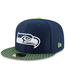 New Era Boys' Seattle Seahawks Sideline 59FIFTY Fitted Cap