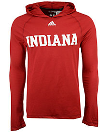 adidas Men's Indiana Hoosiers Mark My Words Long Sleeve Hooded T-Shirt