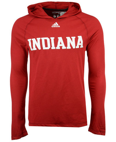 adidas Men's Indiana Hoosiers Mark My Words Long Sleeve Hooded T-Shirt