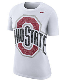 Nike Women's Ohio State Buckeyes Triblend Logo Boyfriend T-Shirt