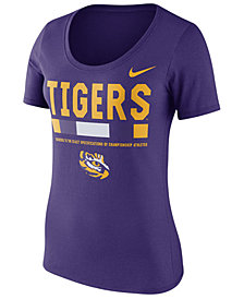 Nike Women's LSU Tigers Sideline Scoop T-Shirt