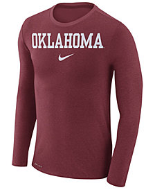 Nike Men's Oklahoma Sooners Marled Long Sleeve T-Shirt