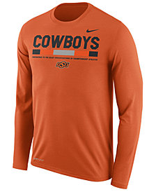 Nike Men's Oklahoma State Cowboys Legend Sideline Long Sleeve T-Shirt
