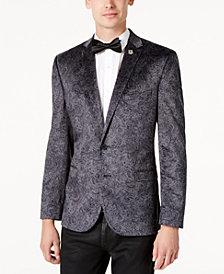 Nick Graham Men's Slim-Fit Velvet Paisley Dinner Jacket