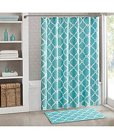 "Madison Park Essentials Merritt Fretwork-Print 72"" Square Shower Curtain"