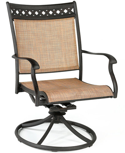 CLOSEOUT Vintage Cast Aluminum Outdoor Swivel Rocker Furniture - Macy outdoor furniture