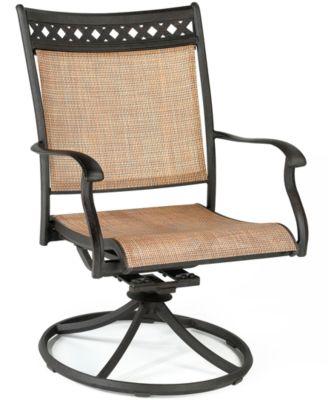 Vintage Cast Aluminum Outdoor Swivel Rocker. Furniture