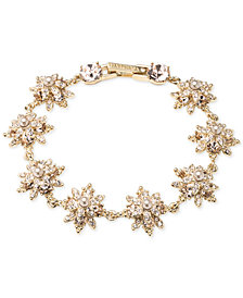 Marchesa Crystal & Imitation Pearl Flex Bracelet