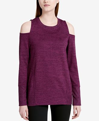 Calvin Klein Performance Haci Marled Cold-Shoulder Tunic