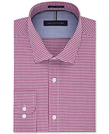 Tommy Hilfiger Men's Big and Tall Soft Touch Slim-Fit Non-Iron Gingham Dress Shirt