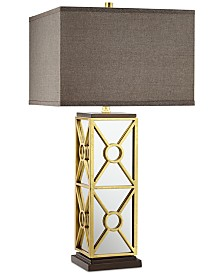 CLOSEOUT! Pacific Coast Romana Mirrored Table Lamp