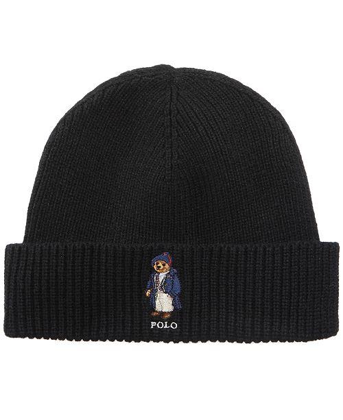 Polo Ralph Lauren Men s Toggle Coat Bear Hat - Hats 0c0f8cf6936d