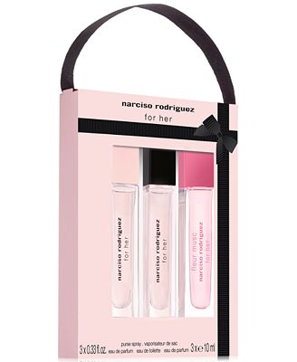 narciso rodriguez 3 pc for her coffret gift set fragrance beauty macy 39 s. Black Bedroom Furniture Sets. Home Design Ideas