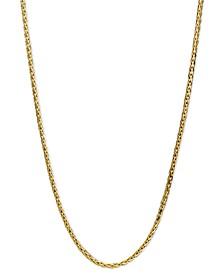 "14k Gold Necklace, 20"" Diamond Cut Wheat Chain (9/10mm)"