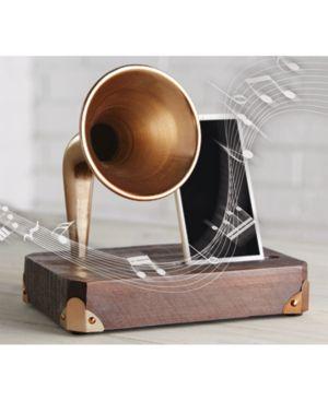 Studio Mercantile Wooden Phone Amplifier - Dark Brown