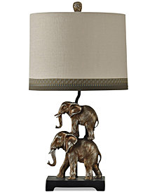 StyleCraft Braden Elephant Table Lamp