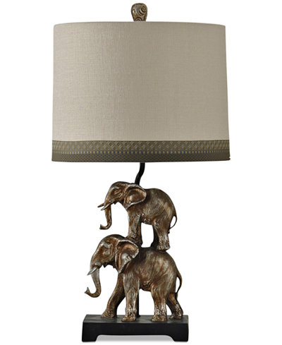 StyleCraft Braden Elephant Table Lamp