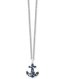 Final Call by EFFY® Multi-Sapphire Anchor Pendant Necklace (1-3/8 ct. t.w.) in Sterling Silver