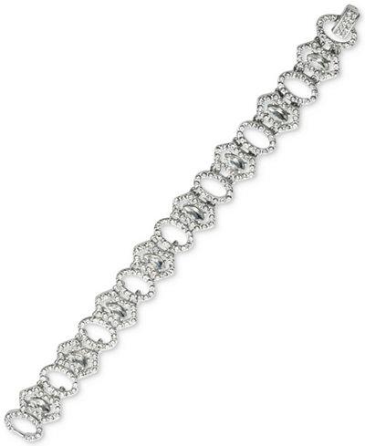 Carolee Silver-Tone Pavé Link Bracelet