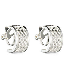 Lauren Ralph Lauren Silver-Tone Mesh Huggie Hoop Clip-on Earrings