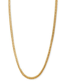 "Italian Gold 18"" Foxtail Chain Necklace (1-1/3mm) in 14k Gold"