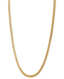 """Italian Gold 18"""" Foxtail Chain Necklace (1-1/3mm) in 14k Gold"""