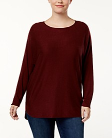 INC Plus Size Shirttail-Hem Sweater, Created for Macy's