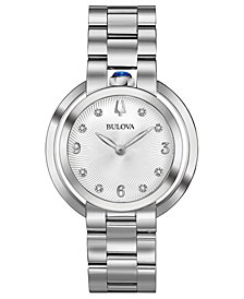 Bulova Women's Rubaiyat Diamond-Accent Stainless Steel Bracelet Watch 35mm
