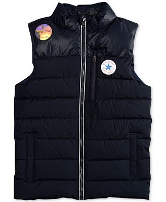 Converse Matte Shine Quilted Vest, Big Boys