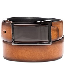 Men's Reversible Plaque Belt, Created for Macy's