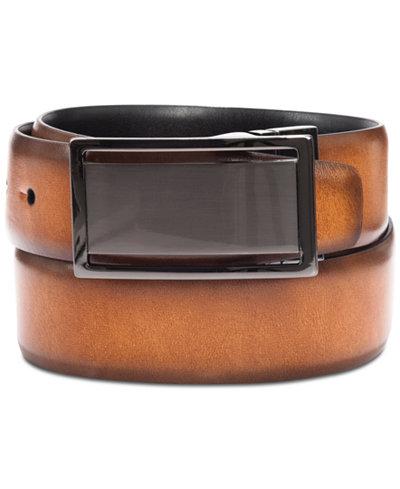 Alfani Men's Reversible Plaque Belt, Created for Macy's