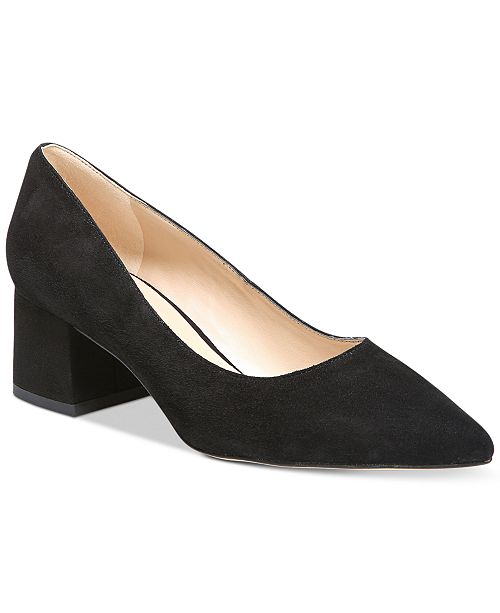 18b9339e12ea Franco Sarto Callan Block-Heel Pumps   Reviews - Pumps - Shoes ...