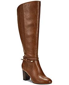Alfani Women's Step 'N Flex Giliann Wide-Calf Dress Boots, Created for Macy's