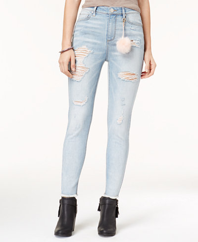 Tinseltown Juniors' Ripped Sweetie Skinny Jeans