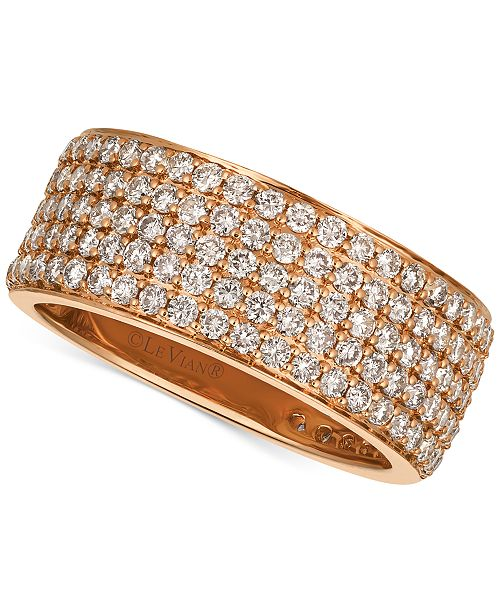 Le Vian Strawberry & Nude™ Diamond Band (1-7/8 ct. t.w.) in 14k Gold or Rose Gold