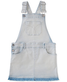 Calvin Klein Big Girls Overall Denim Dress
