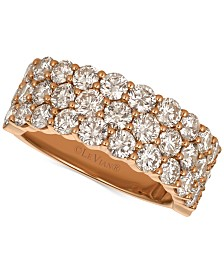 Le Vian® Strawberry & Nude™ Diamond Band (3-1/10 ct. t.w.) in 14k Gold or Rose Gold