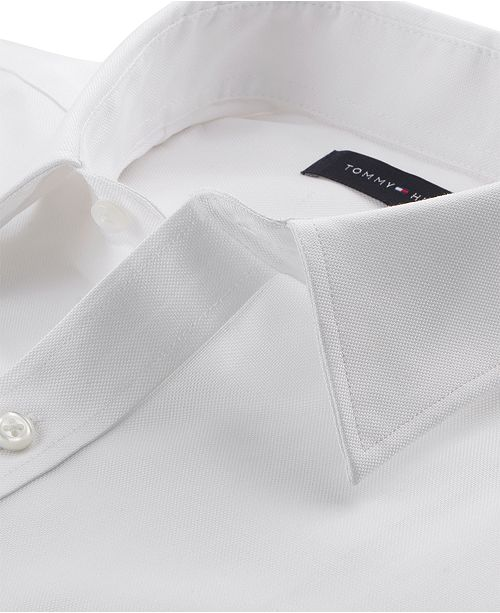 6d0f3fb8 ... Tommy Hilfiger Men's Athletic Fit Performance Stretch TH Flex Collar Dress  Shirt, Created for Macy's ...
