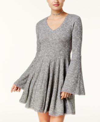 american rag bellsleeve fit u0026 flare dress created for macyu0027s