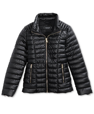 GUESS Quilted Puffer Jacket, Big Girls (7-16) - Coats & Jackets ...