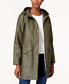 Levi's® Hooded Front Zip Raincoat