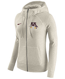 Nike Women's Minnesota Golden Gophers Gym Vintage Full-Zip Hoodie