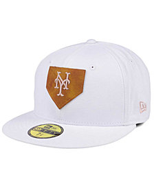 New Era New York Mets The Logo of Leather 59FIFTY Cap