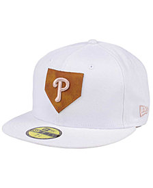 New Era Philadelphia Phillies The Logo of Leather 59FIFTY Cap