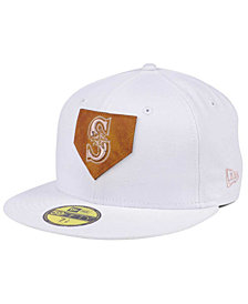 New Era Seattle Mariners The Logo of Leather 59FIFTY Cap
