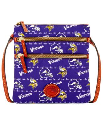 Minnesota Vikings Nylon Triple Zip Crossbody