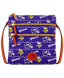 Dooney & Bourke Minnesota Vikings Nylon Triple Zip Crossbody