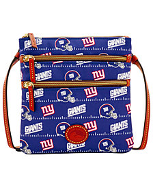 Dooney & Bourke New York Giants Nylon Triple Zip Crossbody