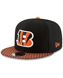 New Era Boys' Cincinnati Bengals 2017 Official Sideline 9FIFTY Snapback Cap